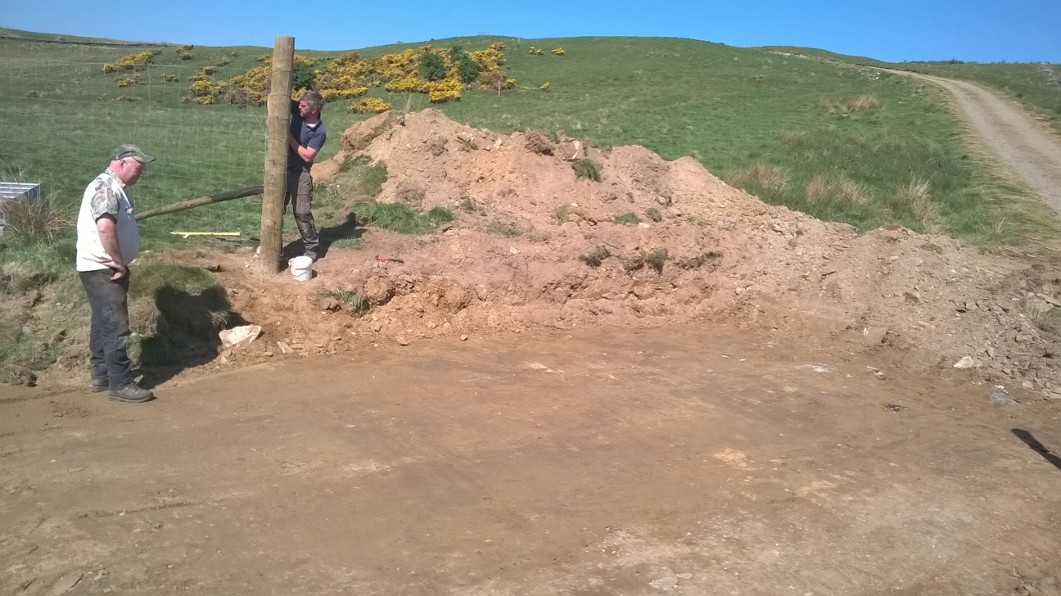 Preparing the ground for cattle grid installation